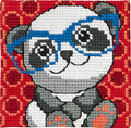 Permin 9120. Panda with glasses.