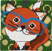 Fox with glasses. Permin 9123.