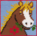 Permin 9313. Horse with flower in mouth.