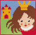 Permin 9314. Princess with crown and castle.