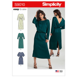 Dresses with Length Variation. Simplicity 9010.