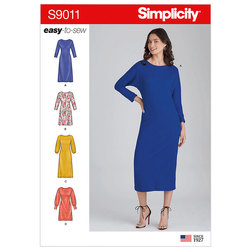 Knit Pullover Dresses. Simplicity 9011.