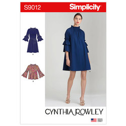 Dresses or Top and Belt. Simplicity 9012.