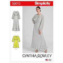 Dresses in Two Lengths. Simplicity 9013.