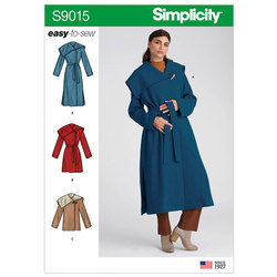 Petite Coat with Belt. Simplicity 9015.