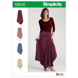 Asymmetrical Skirts. Simplicity 9016.