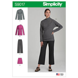 Knit Tops, Pants and Skirt. Simplicity 9017.