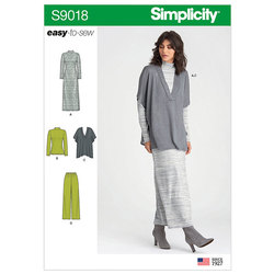 Pants, Knit Vest, Dress or Top. Simplicity 9018.
