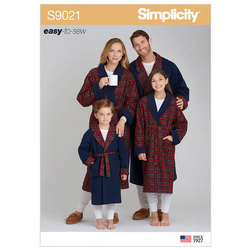 Childrens, Teens and Adults Robe. Simplicity 9021.