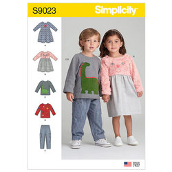 Toddlers´ Dresses, Top and Pants. Simplicity 9023.