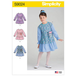 Childrens´ Dress with Pocket Variations. Simplicity 9024.