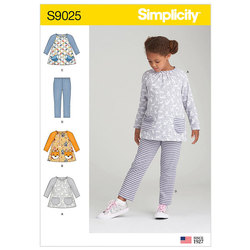 Children´s Tops and Knit Leggings. Simplicity 9025.