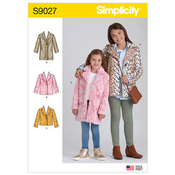 Children´s and Girls´ Lined Coat. Simplicity 9027.