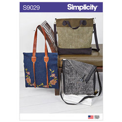 Bags with Strap Variation. Simplicity 9029.