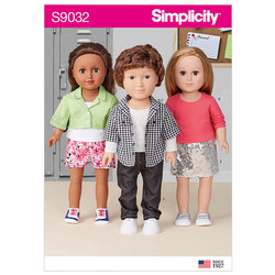 Unisex Doll Clothes. Simplicity 9032.