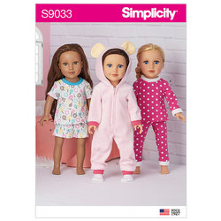 18 inch Doll Clothes. Simplicity 9033.