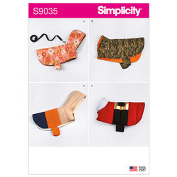 Quilted Dog Coats. Simplicity 9035.
