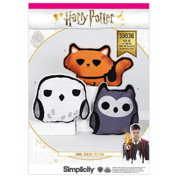 Harry Potter Stuffed Pillows. Simplicity 9036.