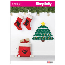 Holiday Countdown Calendar and Accessories. Simplicity 9038.