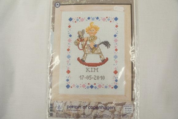 Birth embroidery 17x22cm