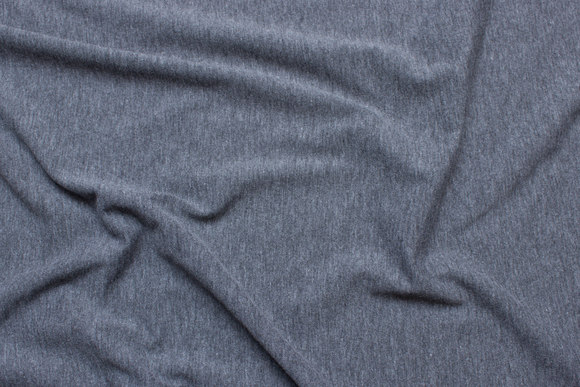 Dark grey speckled cotton-jersey