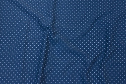 Dove-blue cotton-jersey with 2 mm light blue dot
