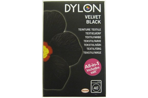 Dylon textile washing machine dye, black