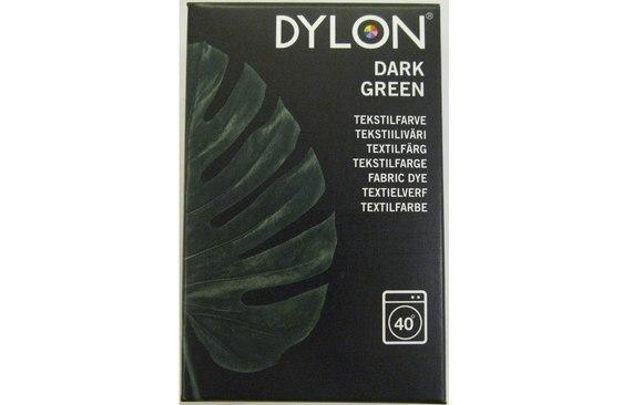 Dylon textile washing machine dye, dark green