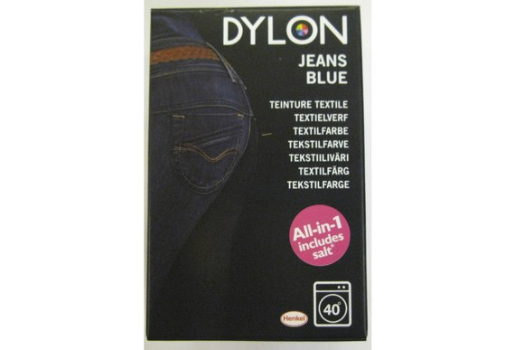 Dylon textile washing machine dye, jeans blue