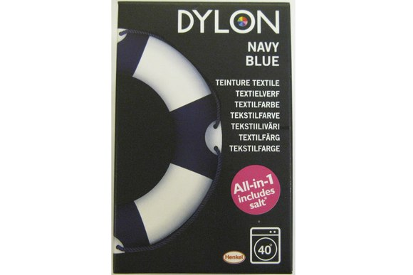Dylon textile washing machine dye, navy blue