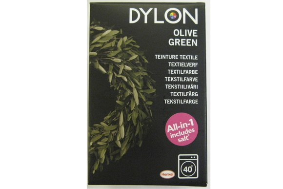 Dylon textile washing machine dye, olive-colored green