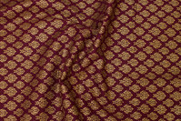 Eggplant-colored-colored cotton with gold print
