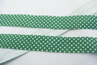 Elastic bias dots green 2cm