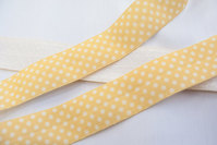 Elastic bias dots yellow 2cm
