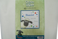 Embroidery with Shaun the Sheep
