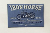 Iron horse patch 5 x 8 cm
