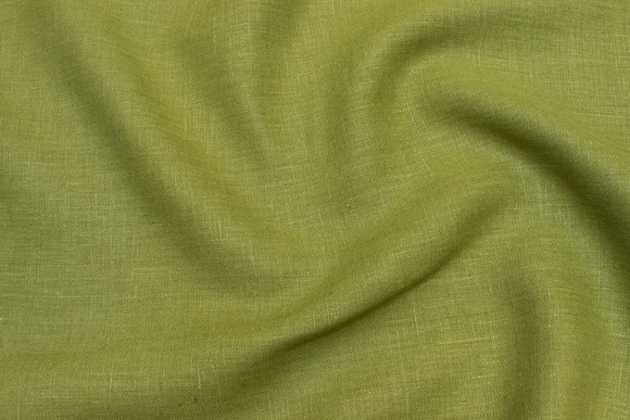 Kiwi-colored pure linen