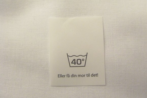 Laundry mark 3x4cm