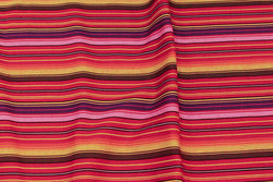 Mexi-stripes in orange, red and purple