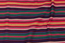 Mexi-stripes in purple, green, orange