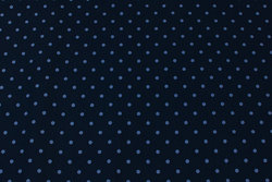 Navy cotton-jersey with 5 mm light blue dot