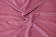 Old soft red stretch velvet