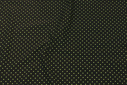 Olive-colored cotton-jersey with 2 mm lime-green dot