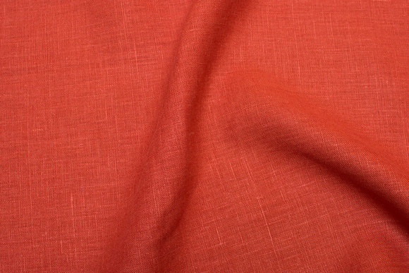 Rust-colored pure linen