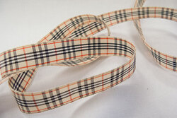 Burberry look-a-like ribbon 2,4cm