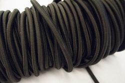 Firm round elastic black