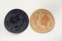 Save the planet leather-look patch 6 cm