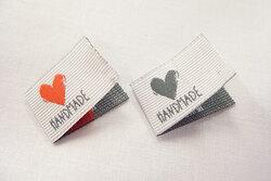 Handmade doublefoldet patch 2 x 2.5 cm