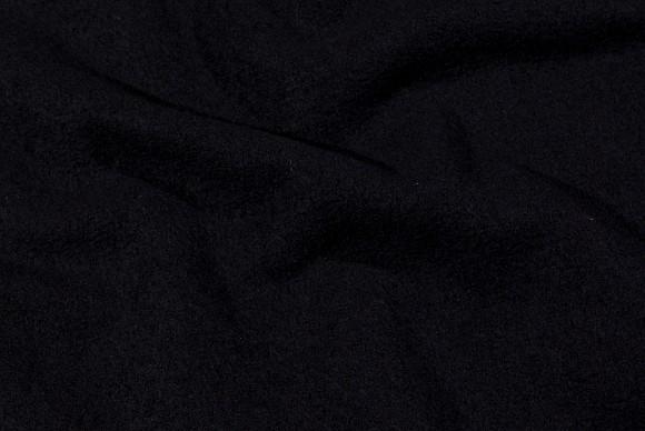 Wool-bouclé in black, pure wool