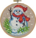 Christmas wall embroidery with snowman.